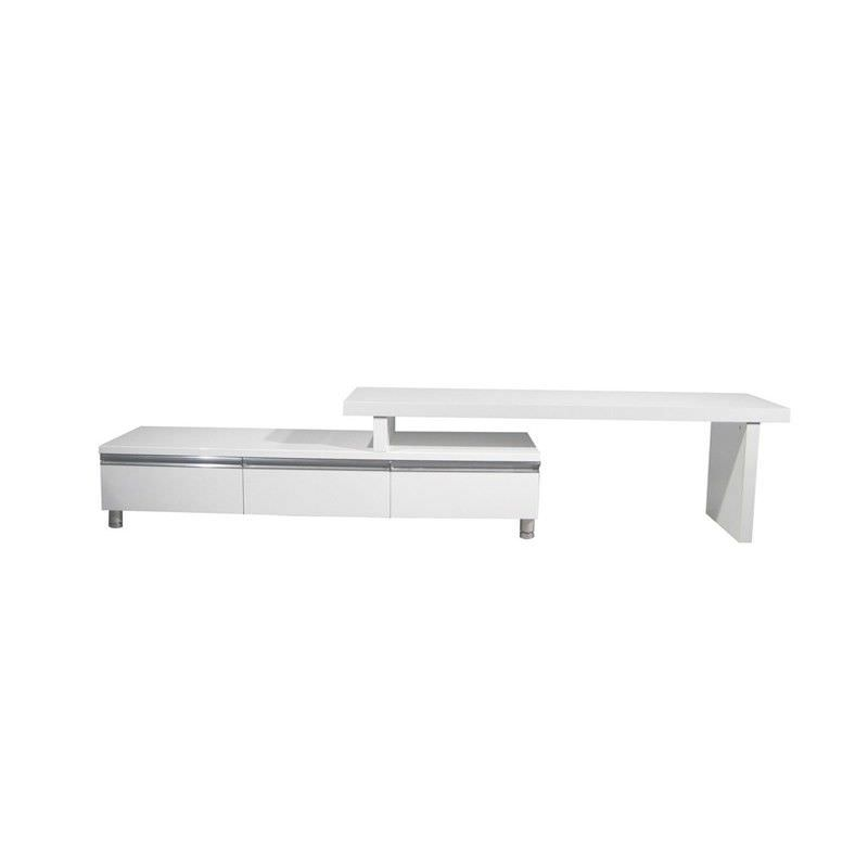Glenda Extendable Entertainment Unit in High Gloss white