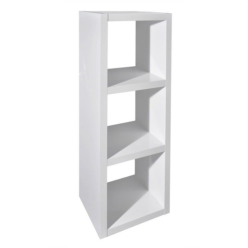 Grace 3 Cube Storage Unit, High Gloss White