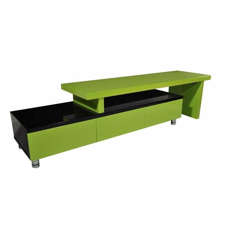 Charlene 3 Drawer Extendable TV Unit, 164- 286cm, Lime / Black