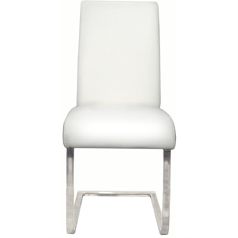 Bale PU Leather Dining Chair - White