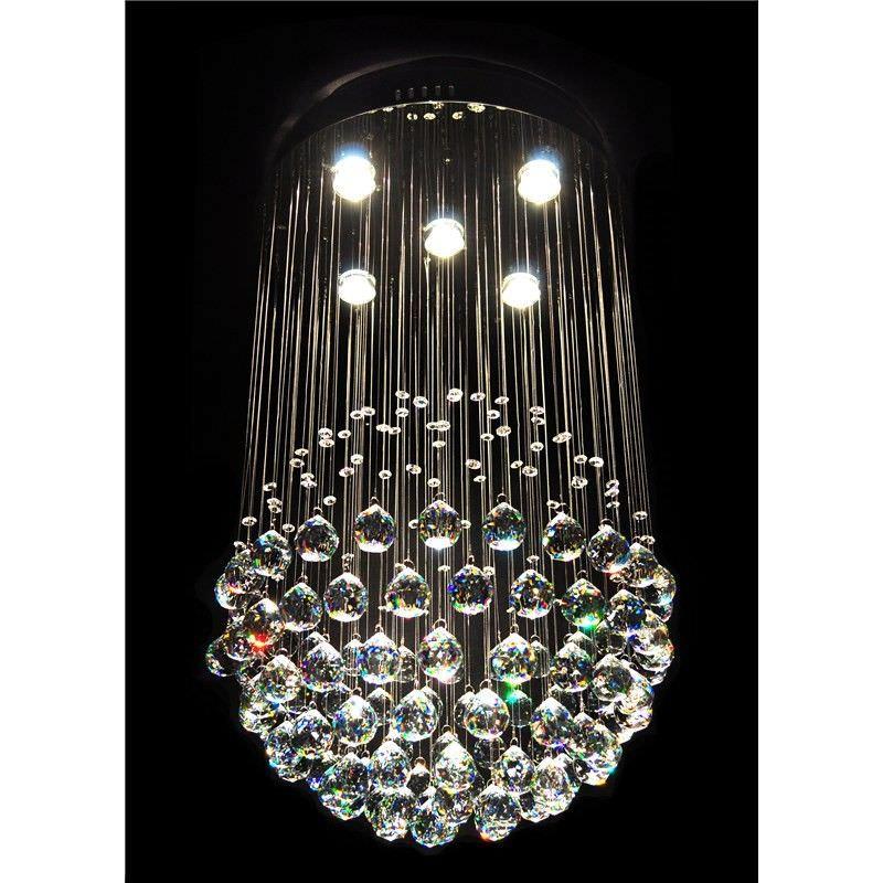 Albina Crystal Drops Ceiling Light