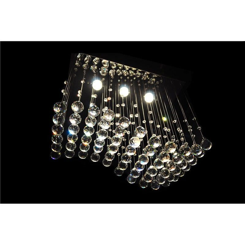Dundas Crystal Drops Ceiling Light