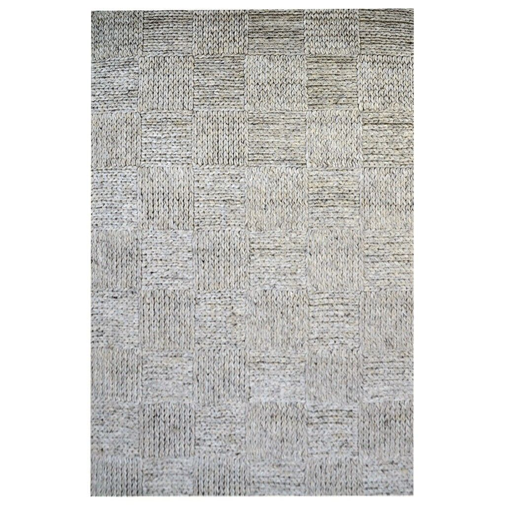 Ottawa Braided Modern Wool Rug, 280x190cm, Ash Grey