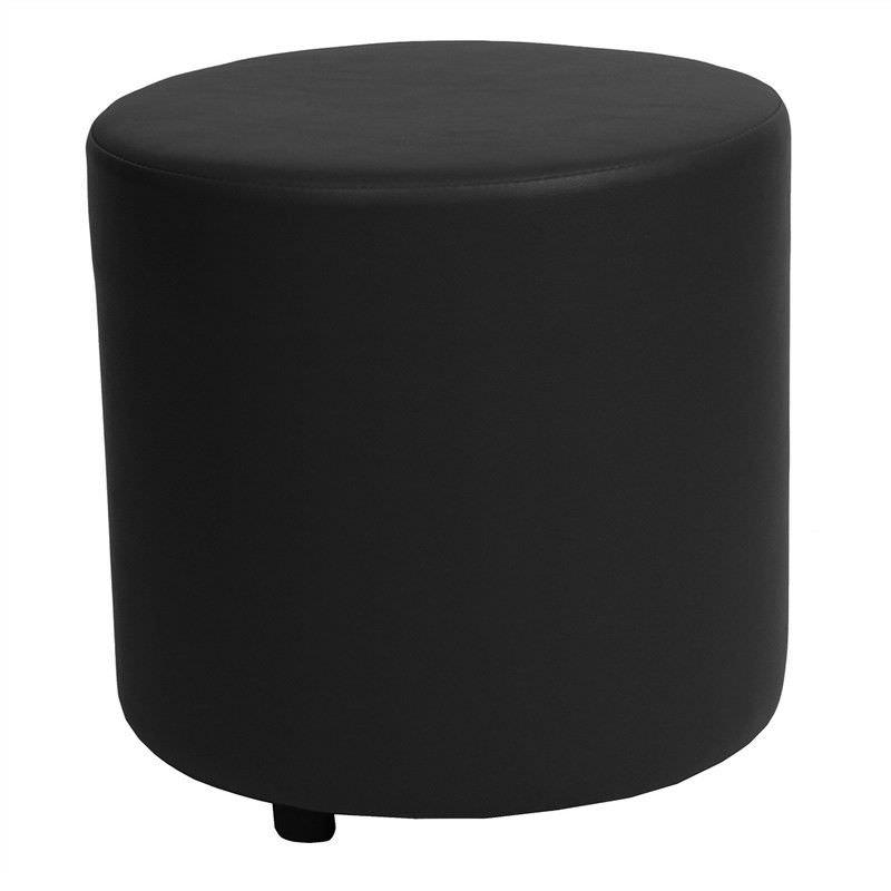 Blob V2 Commercial Grade Vinyl Round Ottoman - Black