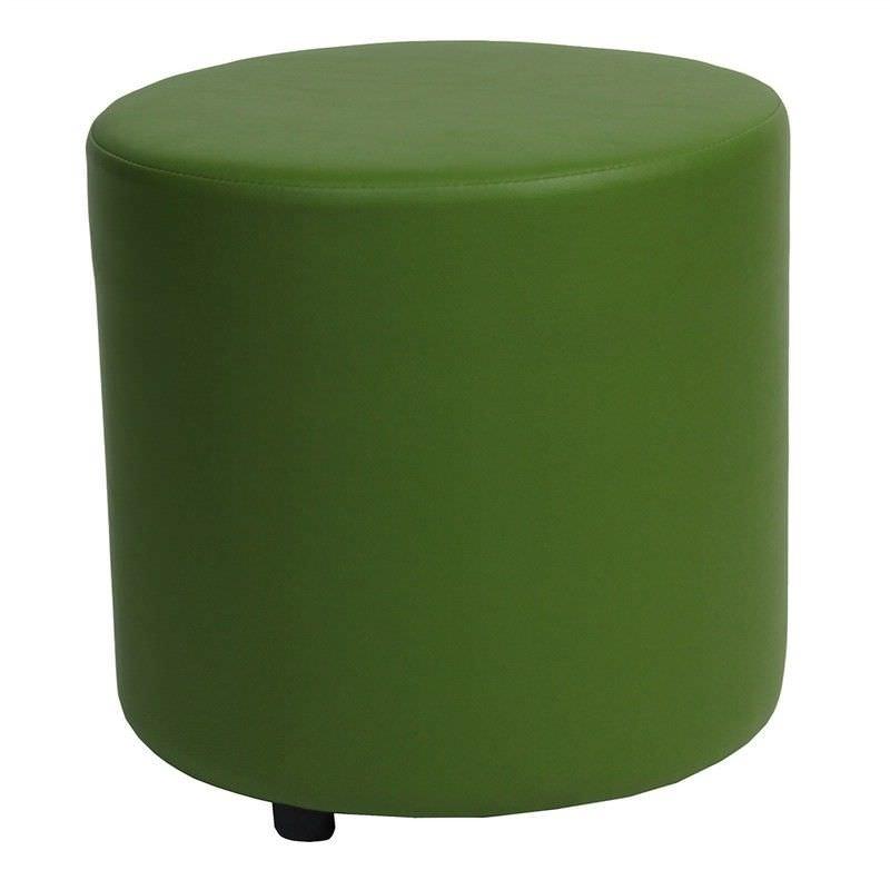 Blob V2 Commercial Grade Vinyl Round Ottoman - Green