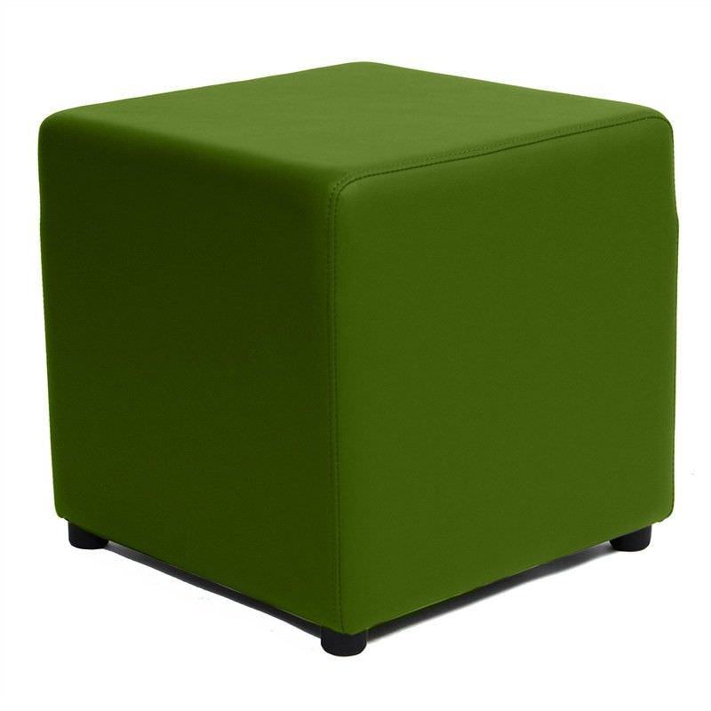 Berlin V2 Commercial Grade Square Ottoman - Green