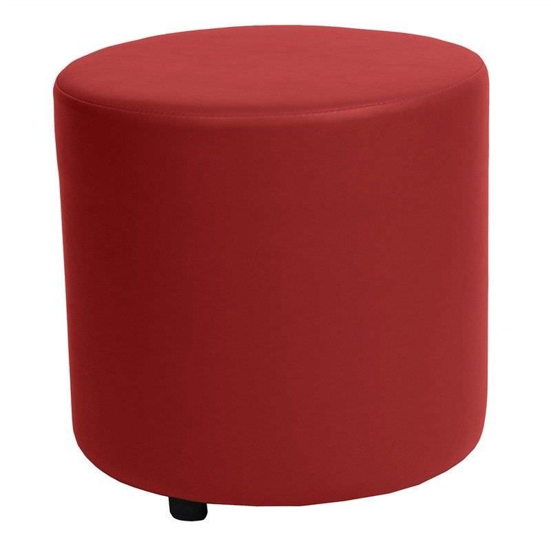 Blob V2 Commercial Grade Vinyl Round Ottoman - Red