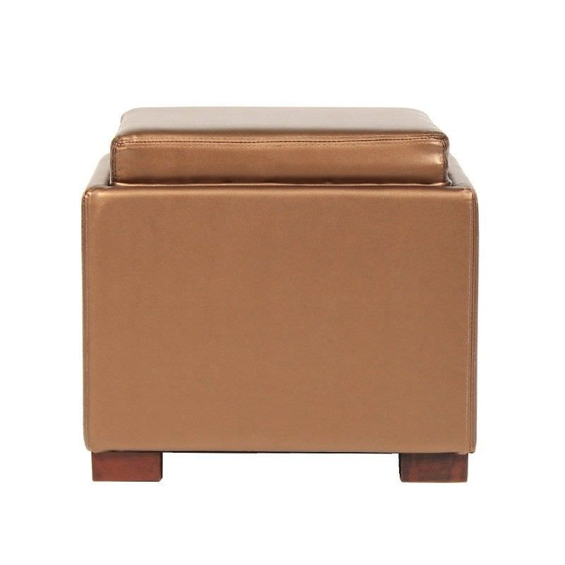 Turncoat Commercial Grade Storage Ottoman - Brown