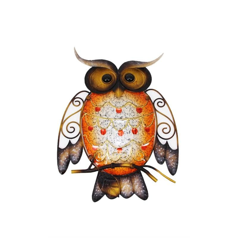 Metal-Glass Owl Wall Art