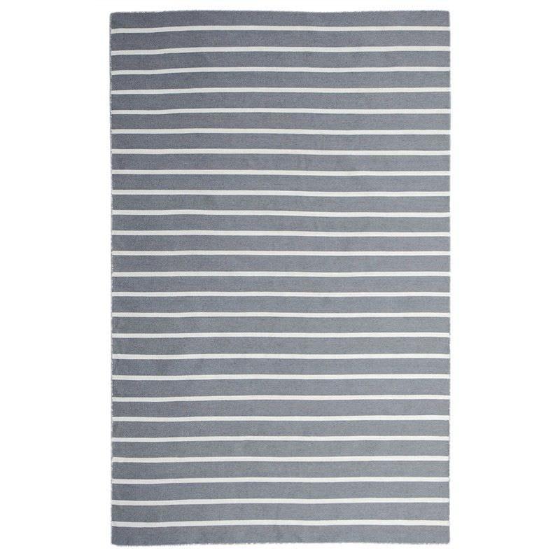 Pinstripe Hand Woven Indoor/Outdoor Rug, 220x320cm, Grey