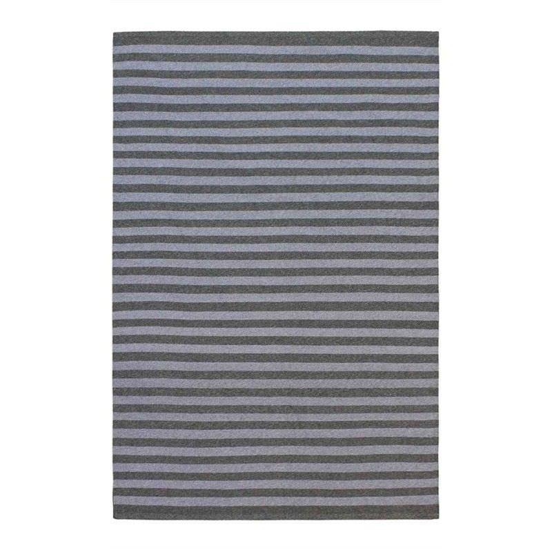 Tonal Stripes Indoor/Outdoor Rug, 200x300cm, Grey/Dark Gree