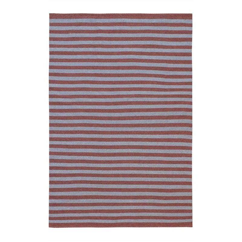 Tonal Stripes Indoor/Outdoor Rug, 160x230cm, Grey/Red