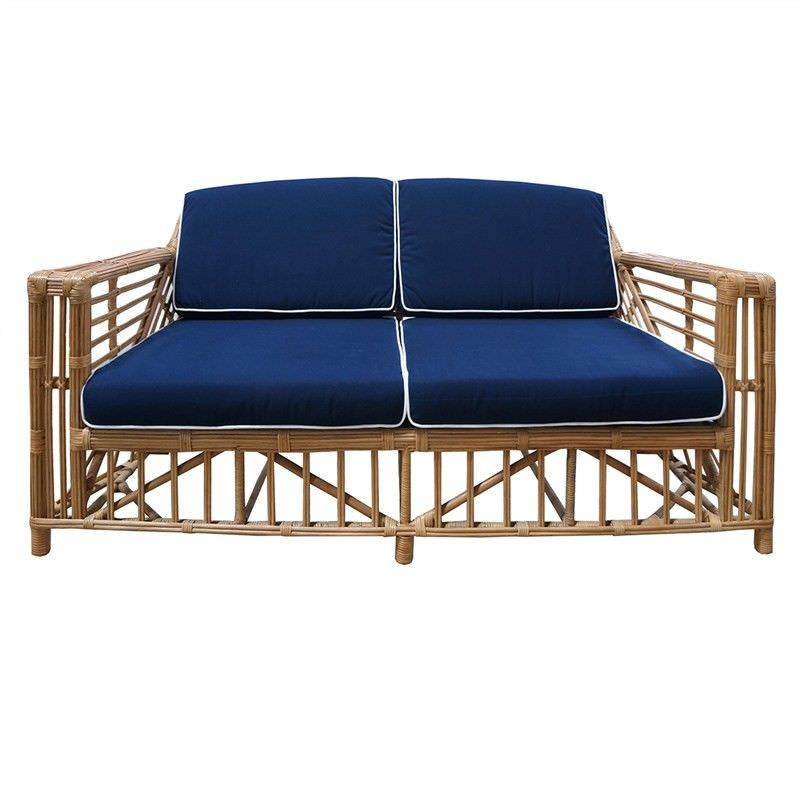 Colonade Rattan 2.5 Seater Sofa with Cushion, Honey