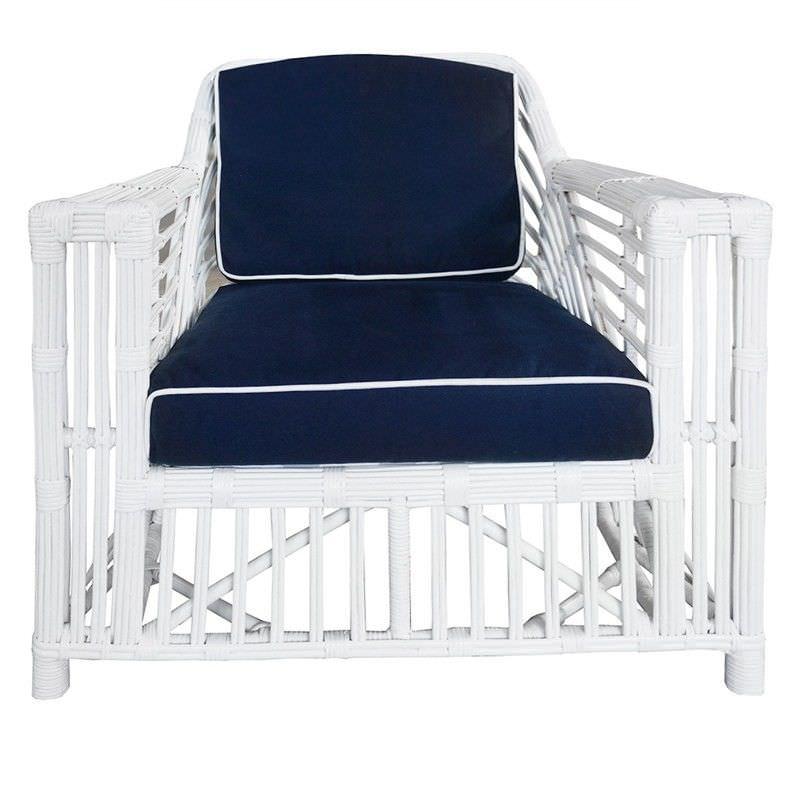 Colonade Rattan Armchair with Cushion - White