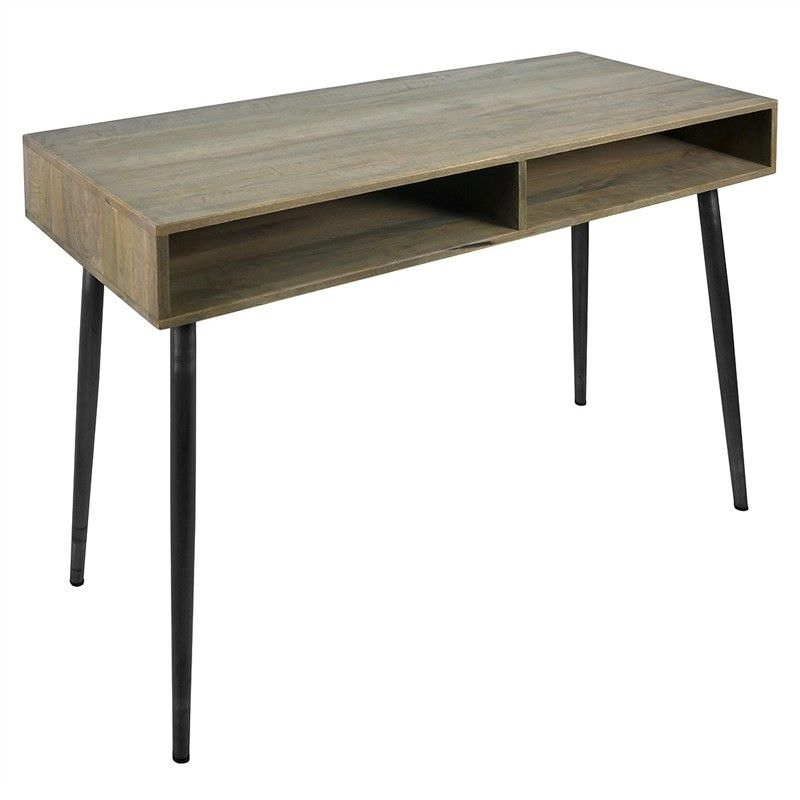 Frampton Solid Mango Wood Timber & Metal Sofa Table