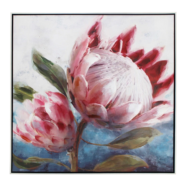 Protea Framed Canvas Wall Art, Double, 80cm