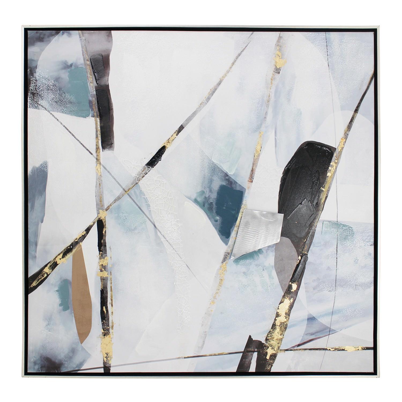Gotye Framed Abstract Canvas Wall Art, Pattern II, 80cm