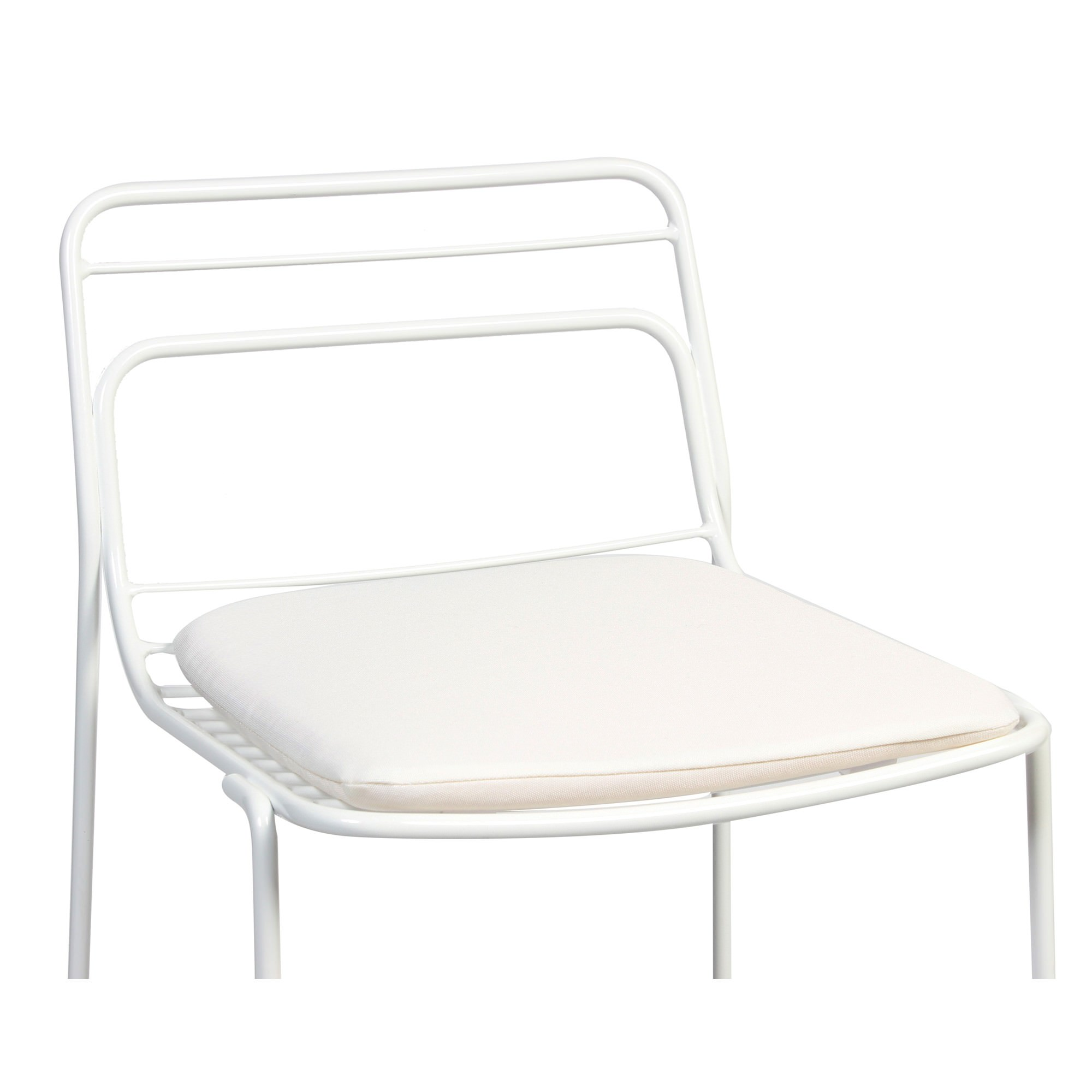 Fabric Seat Pad for Cage Chair, White