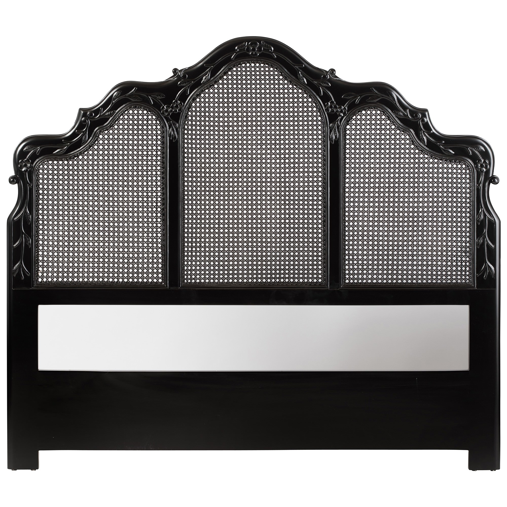 Leches Mahogany Timber Bed Headboard, Queen, Black