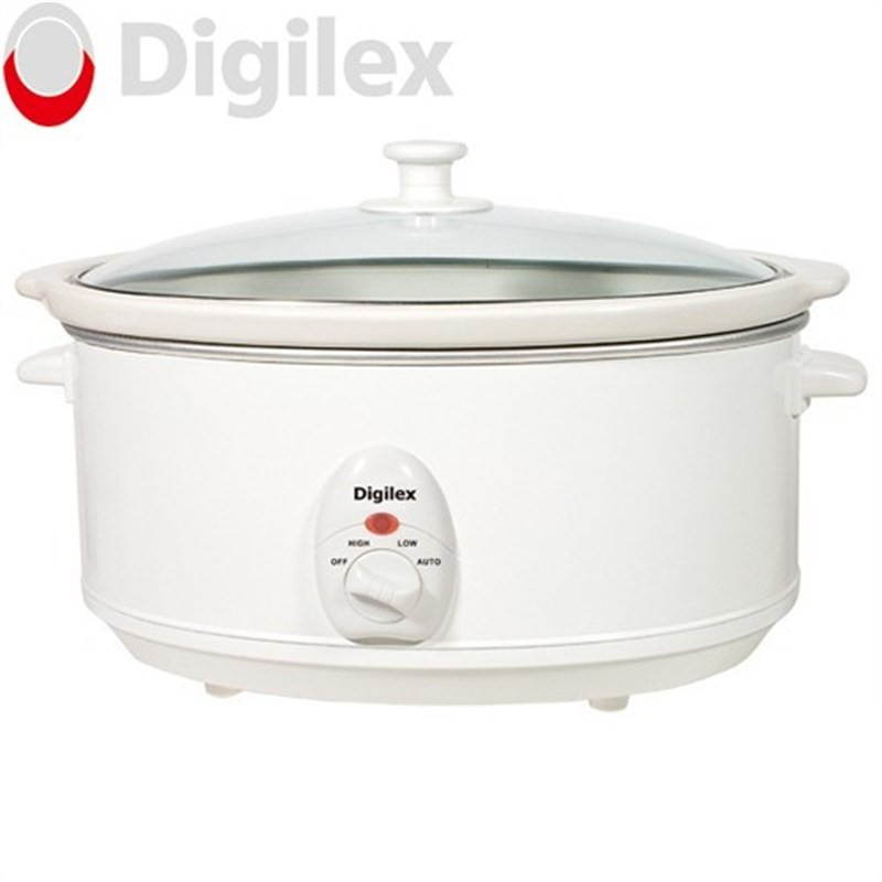 Digilex 6.5L Slow Cooker With Ceramic Pot And Glass Lid
