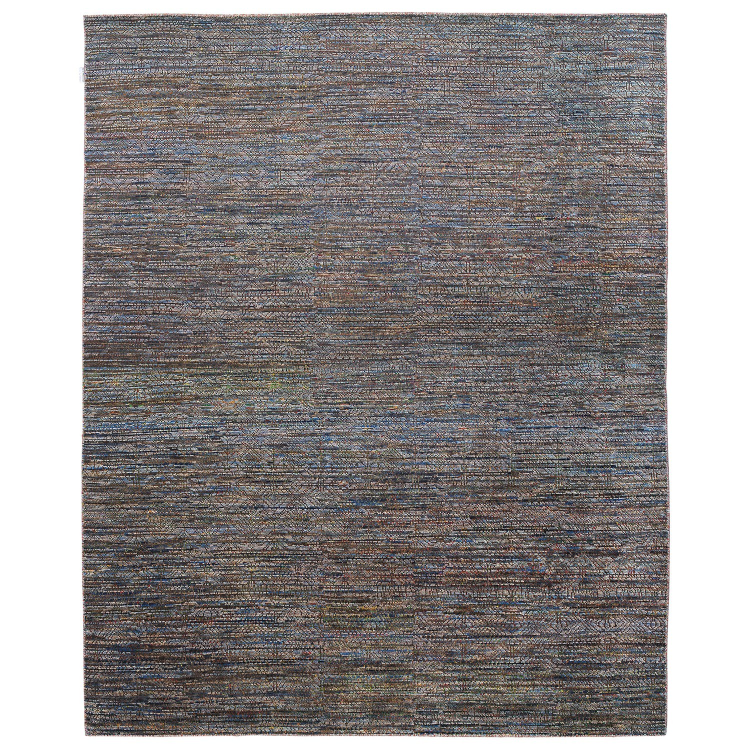 Perry Hand Knotted Wool Rug, 370x275cm, Grey / Blue