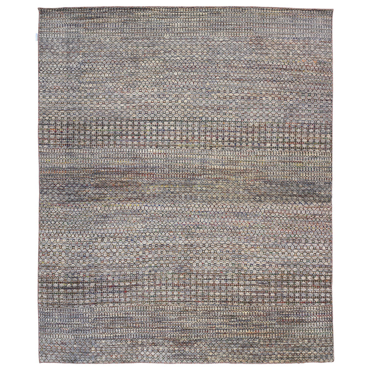 Perry Hand Knotted Wool Rug, 427x305cm, Ivory / Beige