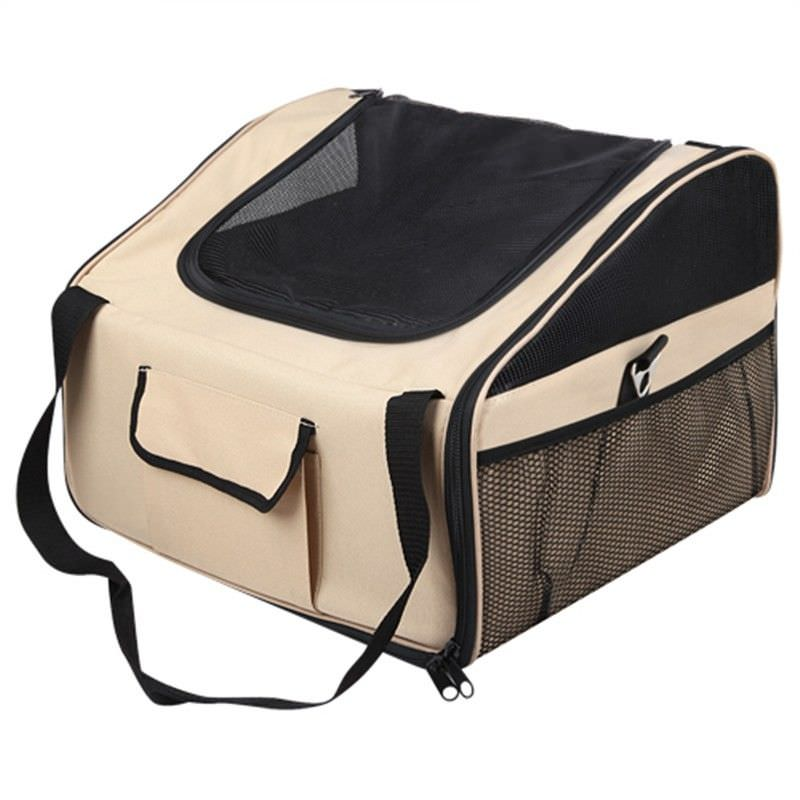 Por table Soft Pet Car Seat Carrier in Beige - Large