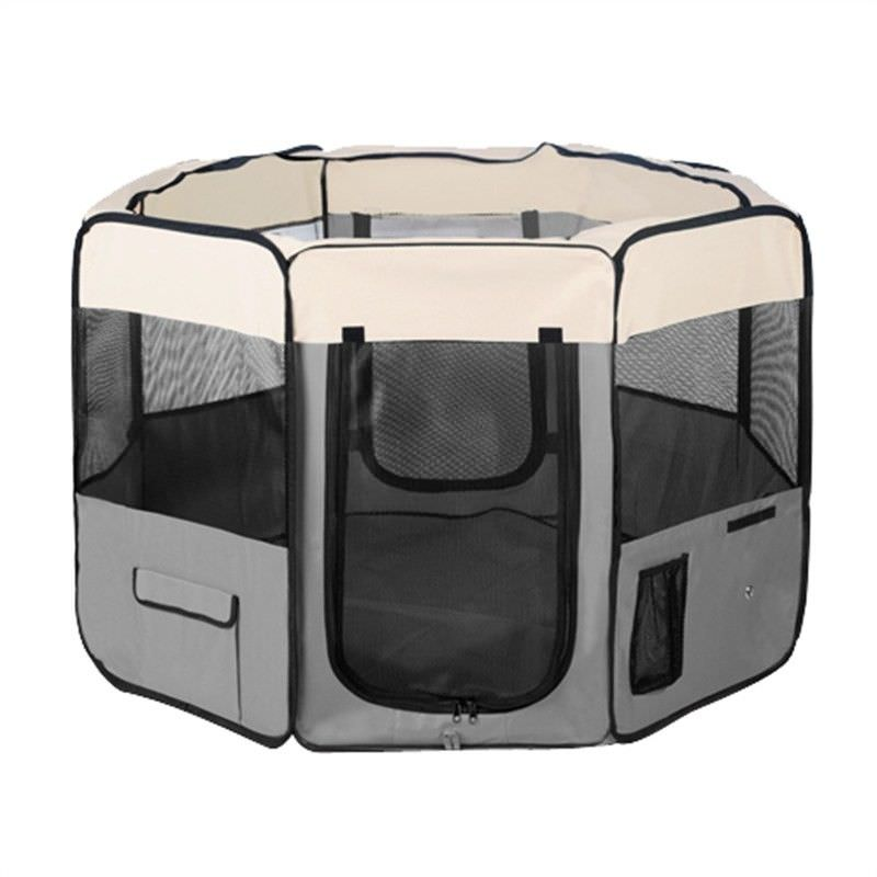 Pet Dog Puppy Cat Exercise Playpen Crate Cage Tent Grey