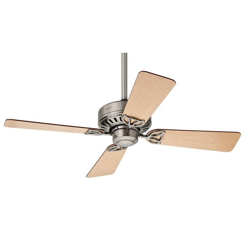 Hunter Bayport Commercial Grade Brushed Nickel Ceiling Fan with Maple / Cherry Switch Blades
