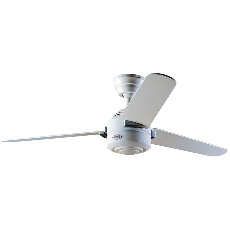 Hunter Carera Commercial Grade White Ceiling Fan with White / Maple Blades