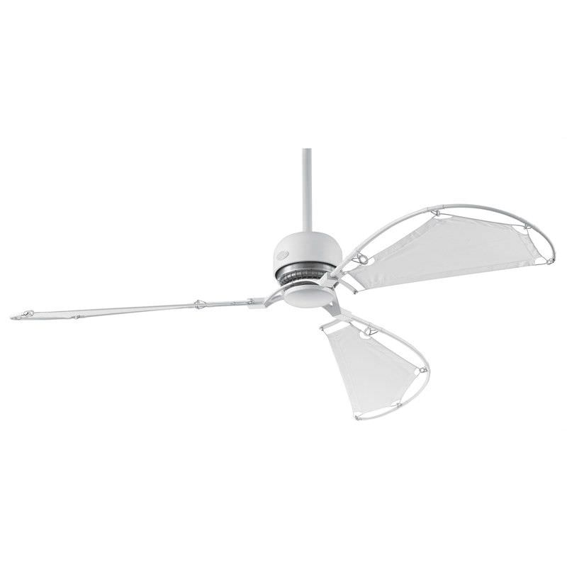 Hunter Avalon Commercial Grade White Ceiling Fan with White Sailcloth Blades