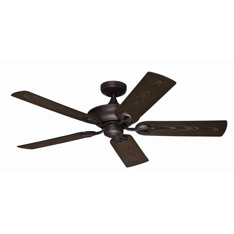 Hunter Maribel Commercial Grade New Bronze Outdoor Ceiling Fan with Walnut Blades