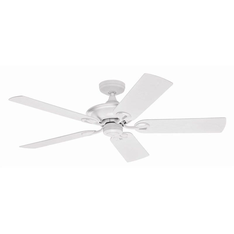 Hunter Maribel Commercial Grade White Outdoor Ceiling Fan with White Blades