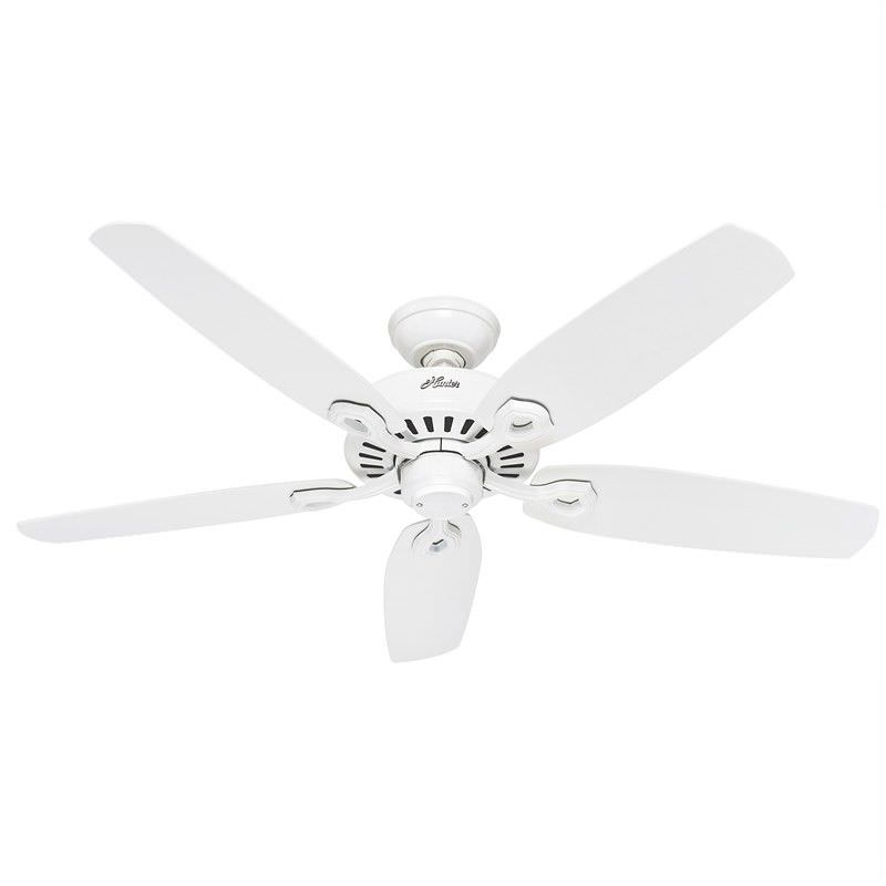 Hunter Builder Elite White Ceiling Fan with White Blades