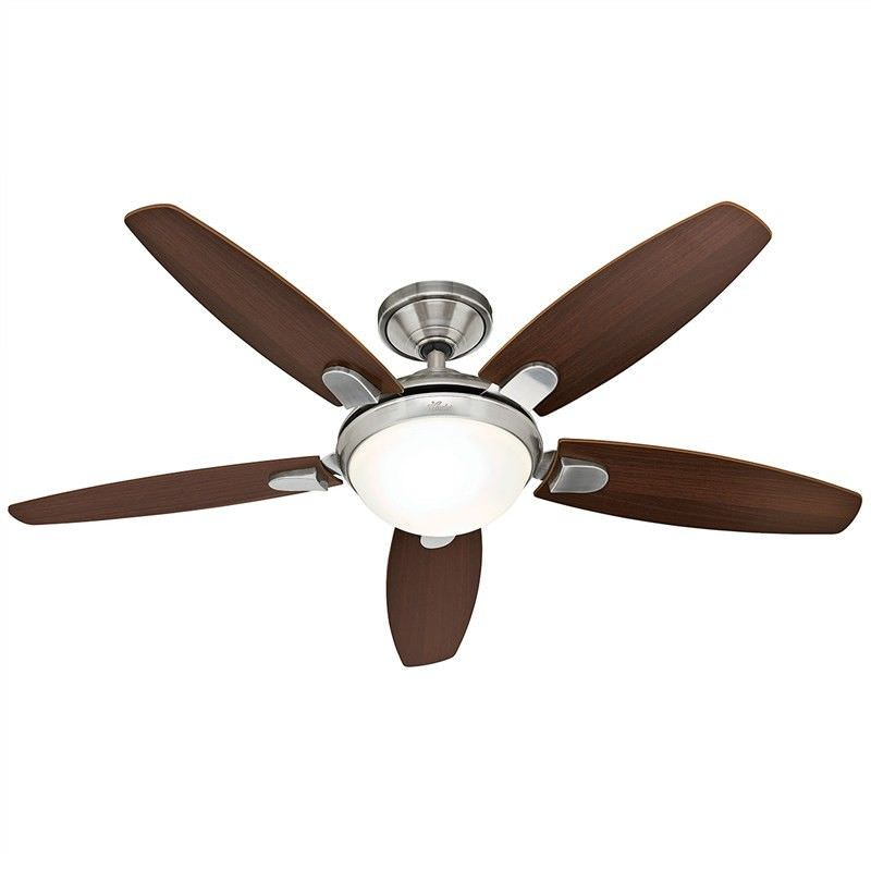 Hunter Contempo Brushed Nickel Ceiling Fan with Dark Walnut / English Cherry Switch Blades