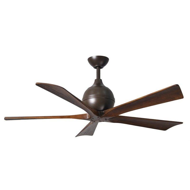 Atlas Irene-5 Ceiling Fan whith Wooden Blades - Textured Bronze