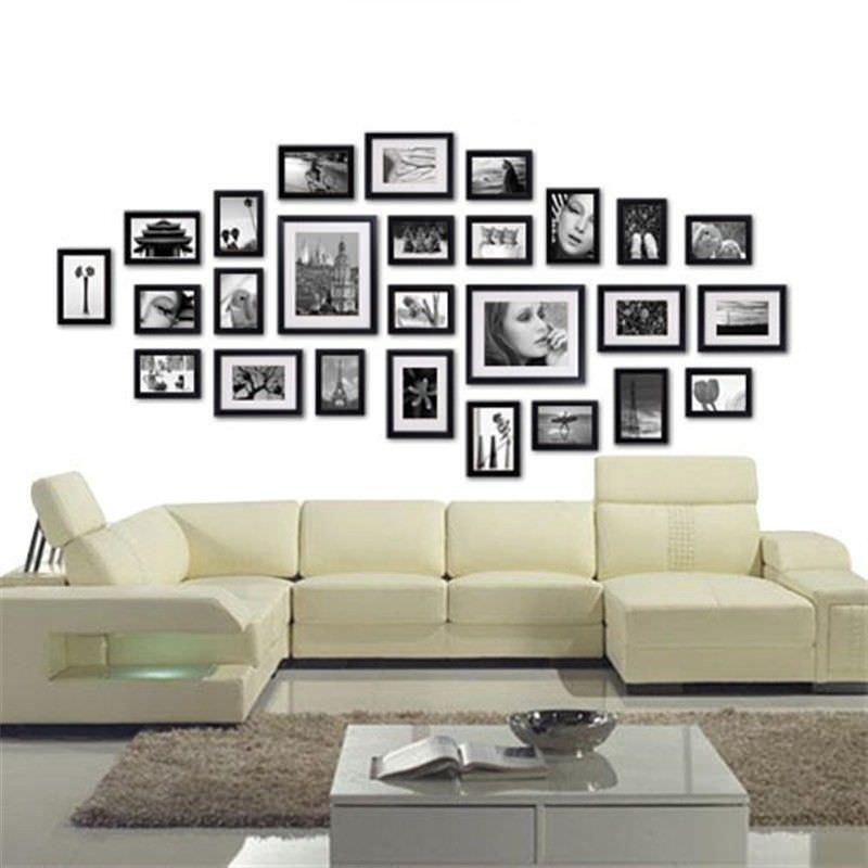 26 pcs Photo Frames Set Wall Black