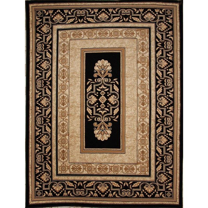 Titan Saray 160x230cm Turkish Made Oriental Rug - Black