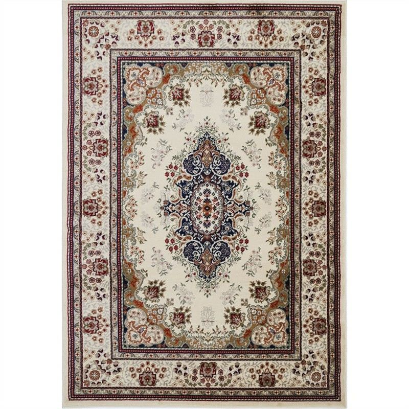 Gold Sidika Turkish Made Oriental Rug, 200x290cm, Cream