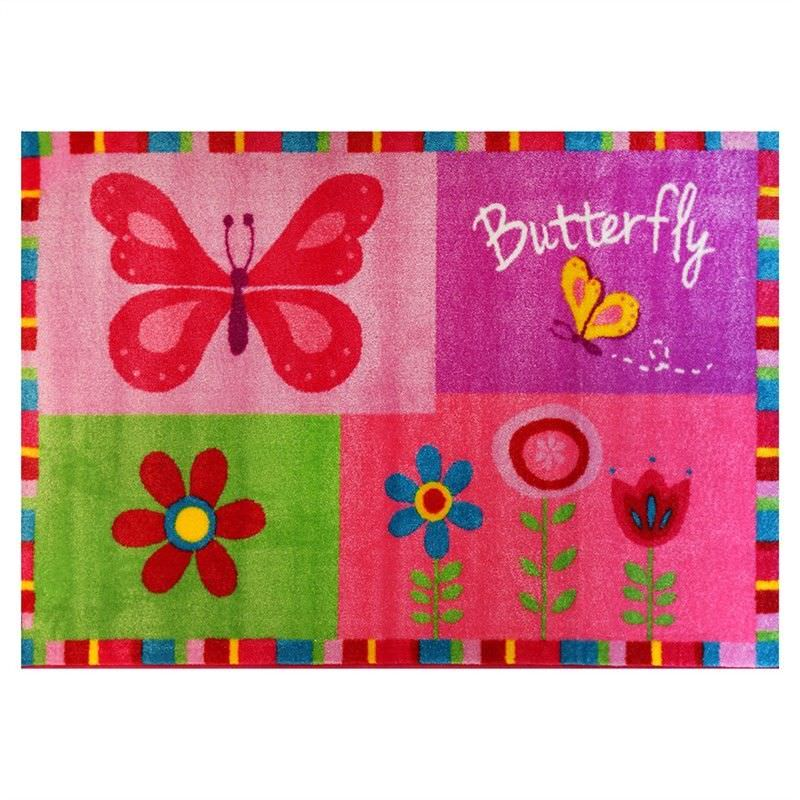 Butterfly Border Egyptian Made 100x150cm Kids Rug