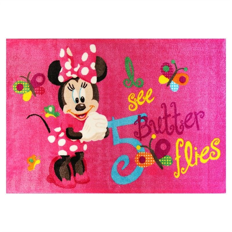 Minnie Butterflies Egyptian Made 100x150cm Kids Rug