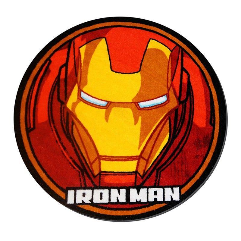 Ironman Helmet Round Kid Rug - 100cm
