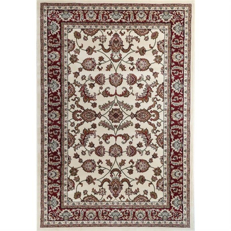 Julian Tait Turkish Made Oriental Rug, 290x200cm, Cream / Red