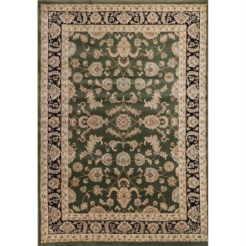 Lavish Dilan 120x170cm Turkish Made Oriental Rug - Green/Black