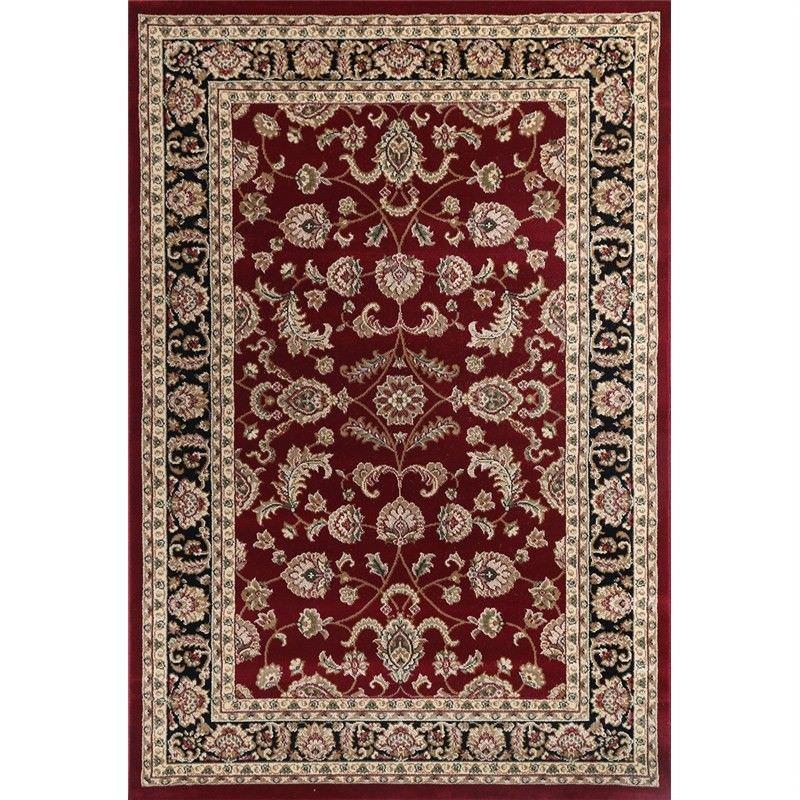Lavish Dilan 120x170cm Turkish Made Oriental Rug - Red/Black