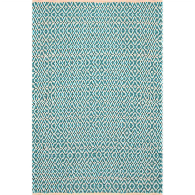 Katherian Electra Hand Made 200x290cm Cotton Rug - Turquoise