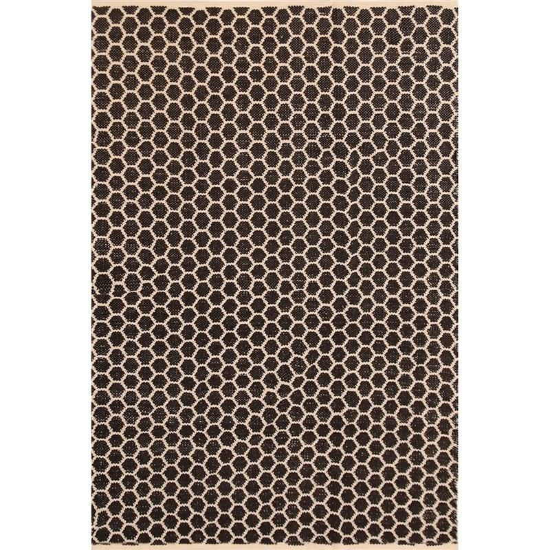 Katherian Odella Hand Made 200x290cm Cotton Rug - Black