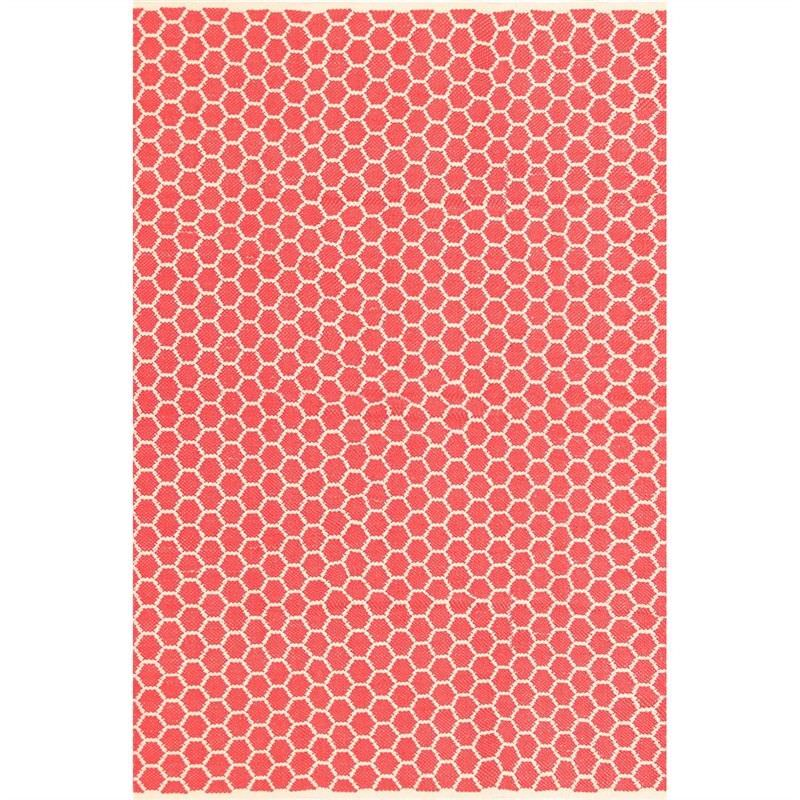 Katherian Odella Hand Made 200x290cm Cotton Rug - Red