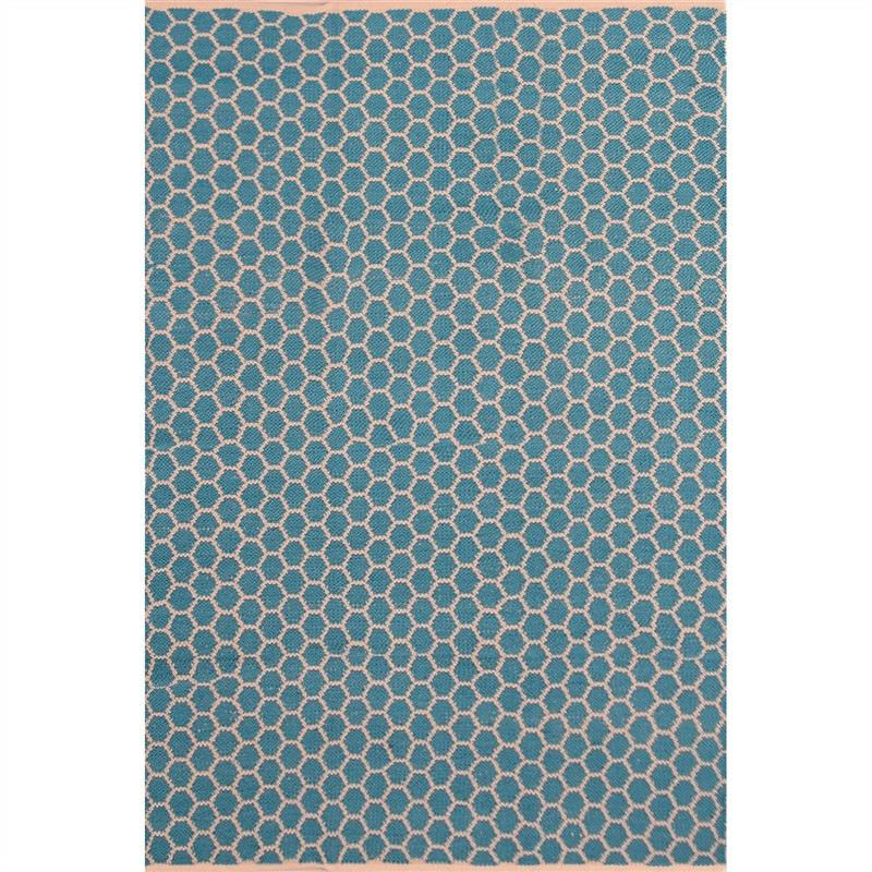 Katherian Odella Hand Made 160x230cm Cotton Rug - Turquoise