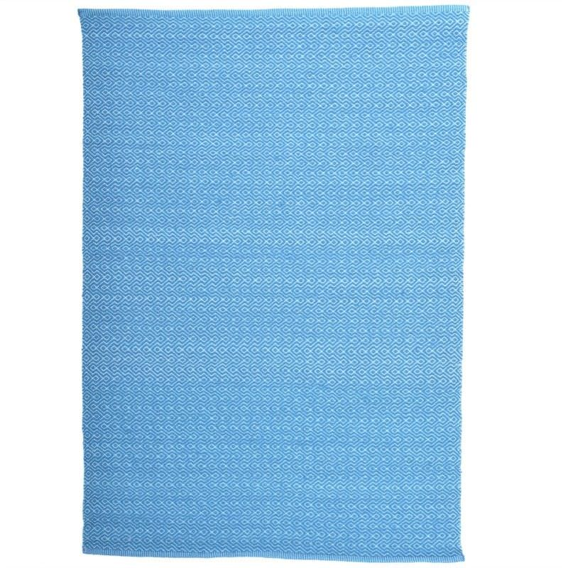 Roselle 200x290cm Hand Woven Wool Rug - Turquoise